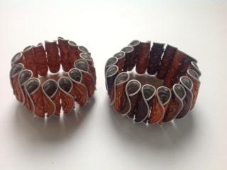 Wikkelarmband oranje/bruin